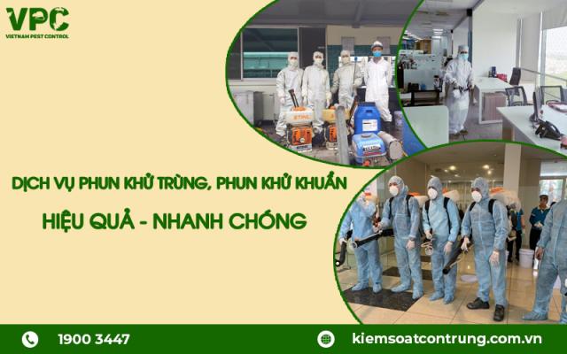 Dịch vụ phun khử trùng khử khuẩn